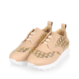 442g nude leather gold rattan